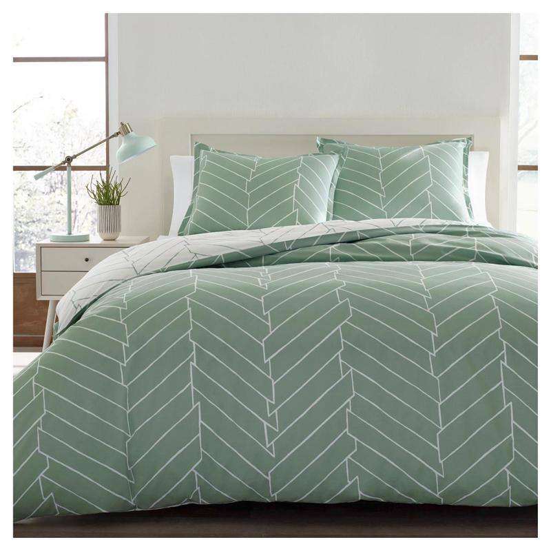 Trykt vaskbar polyester sengetøj dynebetræk sæt