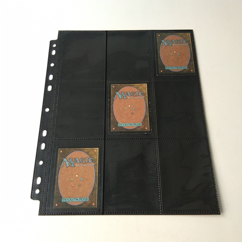 18 Pocket Collector Card Albumsider til MTG YGO Sportskort med Gul Non-woven liner