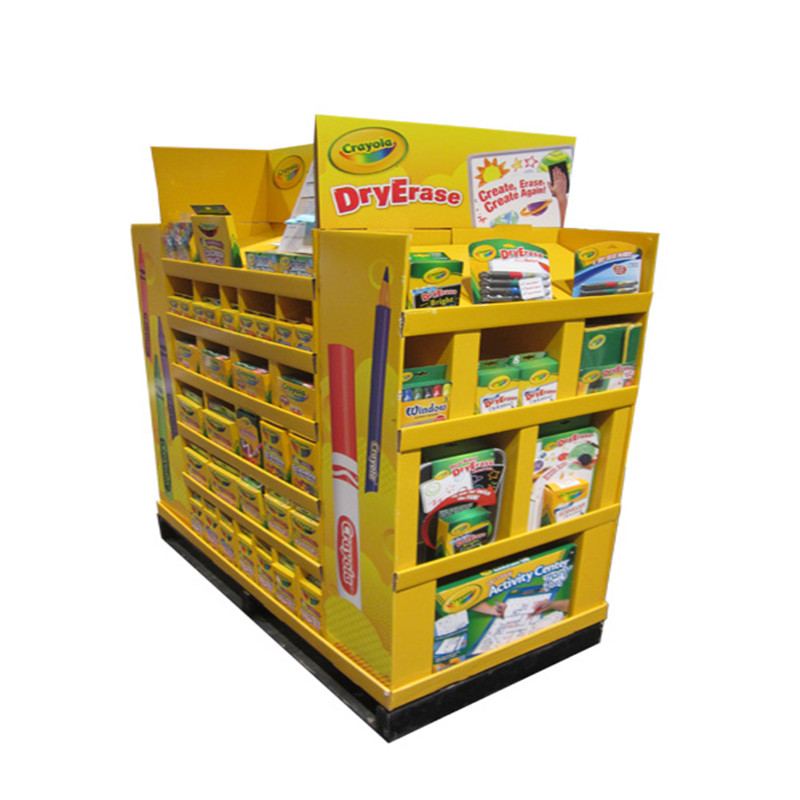 Point of Sale Papirstativ Display, POS POP Gulvstativer, Karton Display Stand