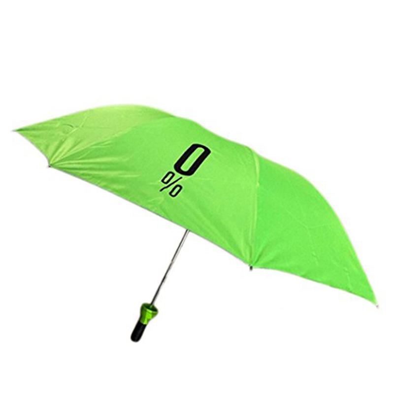 3 Fold rejse størrelse bærbar trykning folding flaske paraply gaver til kvinder