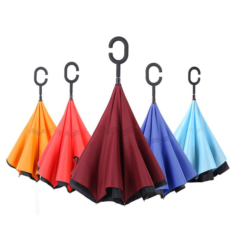 23inch Paraply oppadgående paraply med omvendt tæt