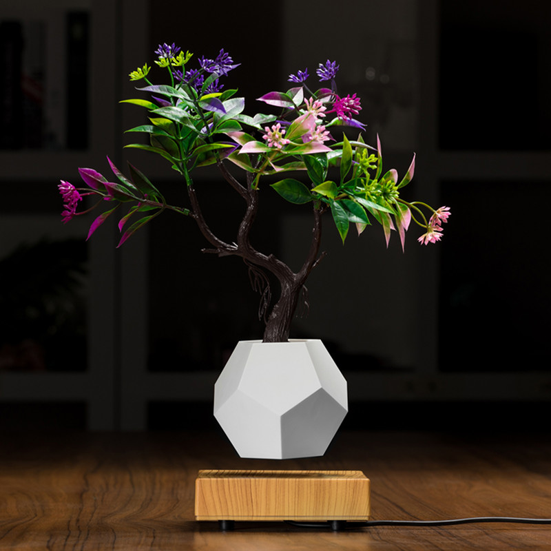 Ny træ magnetisk levitating flydende luft bonsai planter potte PA-0708