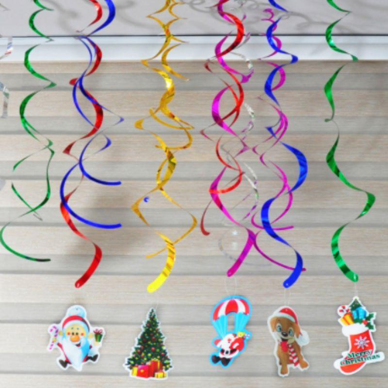 Club Party Decorations Guldfolieloft hvirvler hængende dekorationer