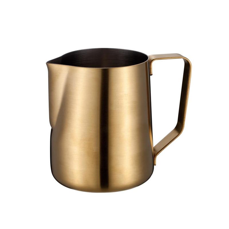 14-kapacitets espresso-skummetmælkekande i rustfrit stål til latte-kunst