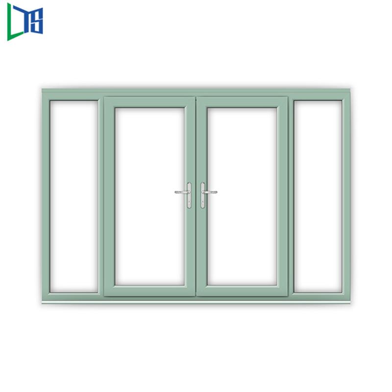 Vinduer med aluminiumsrør svinger vinduer med pulverlakering færdig enkelt ro dobbeltvindue
