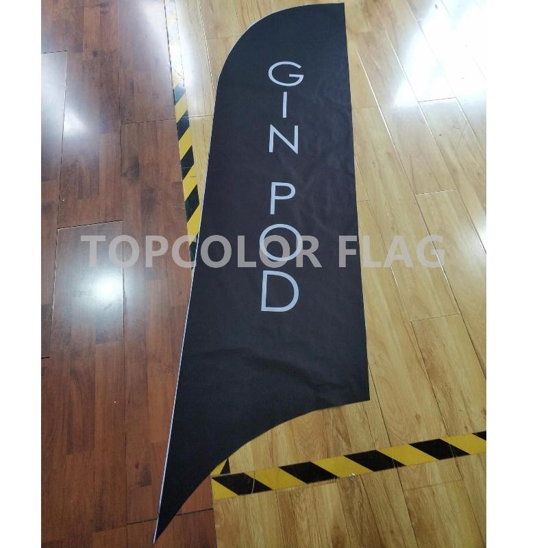 Annoncering Udendørs Fjer Flag