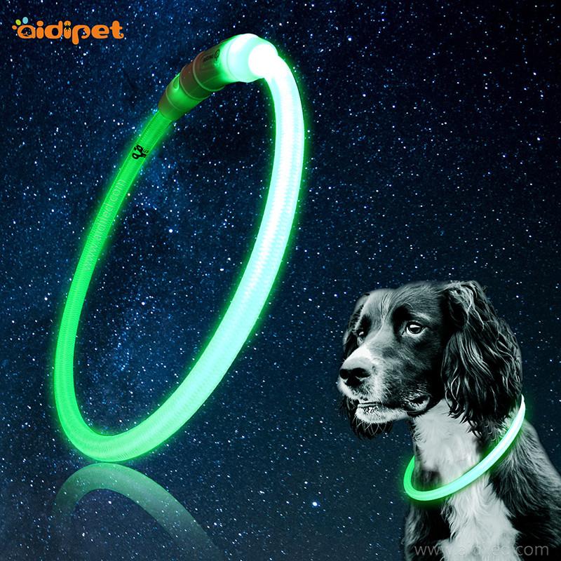 Nylon LED lyser hunde krave Tubular form kæde halskæde skære frit