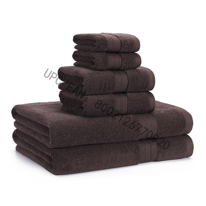 JMD TEKSTIL Badeværelseshåndklæder sæt, køkkenhåndklæder gråt sæt med 6 håndklæder køkken pool husholdning, håndklæder holdbart absorberende behageligt ekstra stort håndklæde (2 vaskeklud, 2 håndklæder, 2 badehåndklæder)