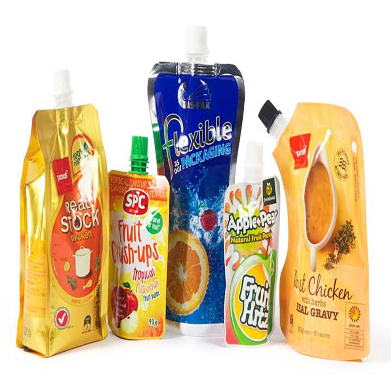 brugerdefineret 200 ml flydende aluminium plastik drik organisk banan frugt gelé juice emballage opbevaring doypack tud pose juice taske