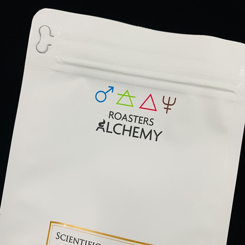 brugerdefineret trykt logo fladbundet lamineret aluminiumsfolie kaffepose med envejsventil