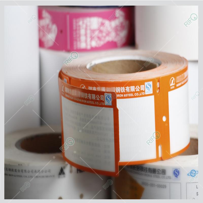 Stålstang Hang tags Højtemperaturmateriale Syntetisk papir til kæledyr