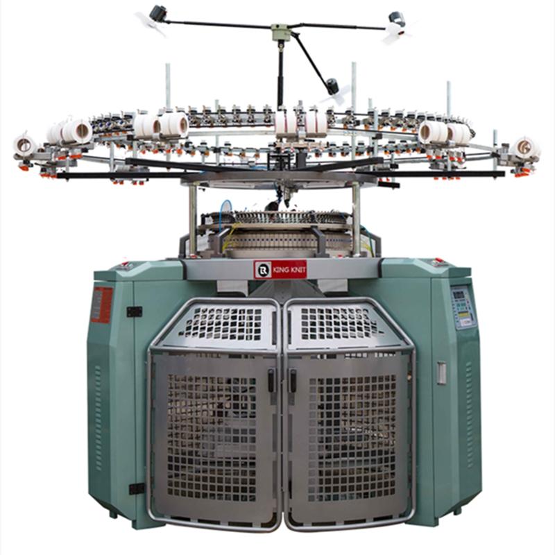 Højhastigheds 4 Spor jacquarcd kropsstørrelse Enkelt trøje cirkulært strikkemaskine