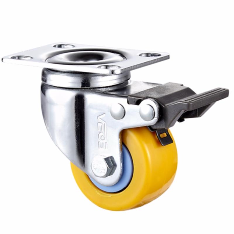Lys pligtopfyldning +.-Belagt indeslutning med Orange TPE-hjul