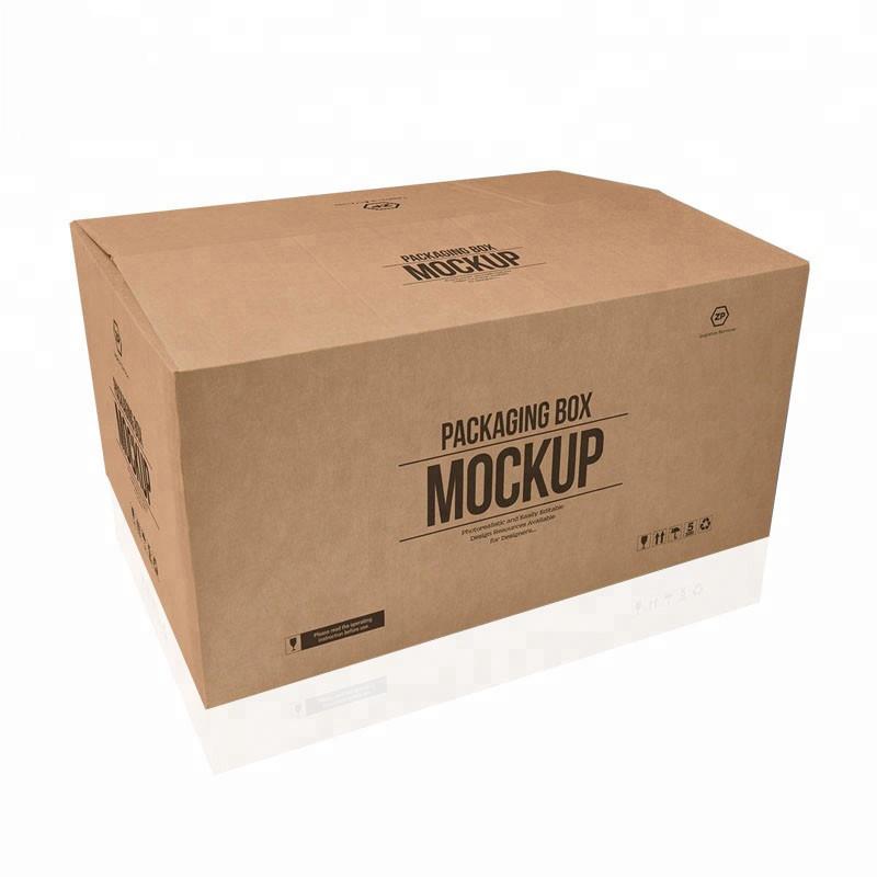 Hot sælger brugerdefinerede store 5 lags logo mærke trykt kraftpapir forsendelse levering stor karton æske