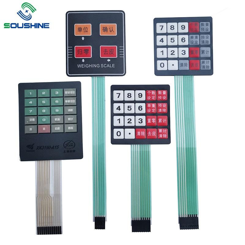 Tilpasset membranafbryder / tastatur på skalaer