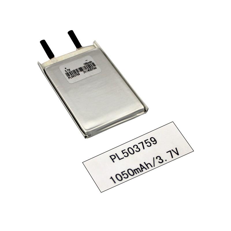 3,7V Lithium Ion Lipo Polymer 1050mAh digitalt produktbatteri