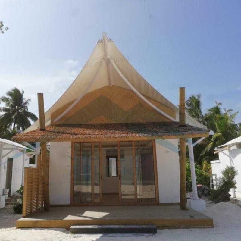 Maldiverne Hotel telte ved kysterne