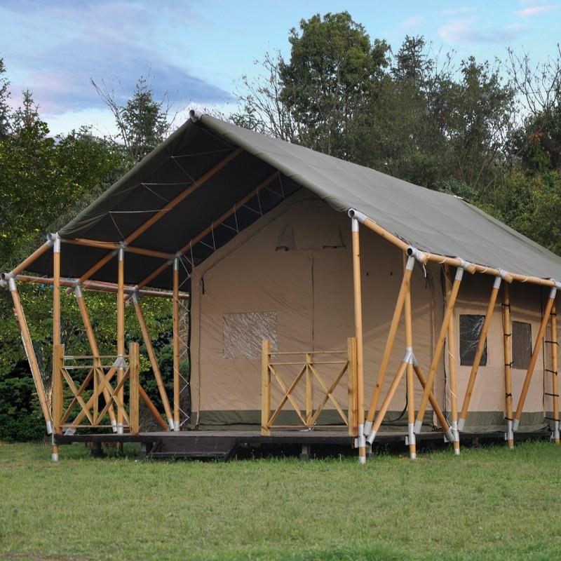 Træstruktur lærredslampe glamrende telt