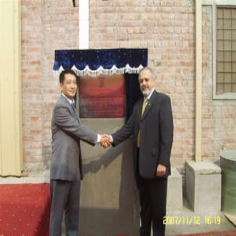 Mr. Shan xiaowu deltog i åbningsceremonien i fabrikken