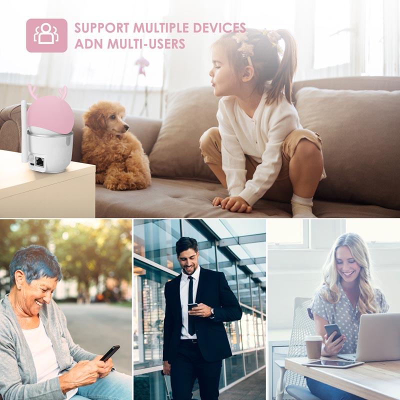 2MP 1080P HD Smart Home Al Wireless Pan Tilt IP Camera