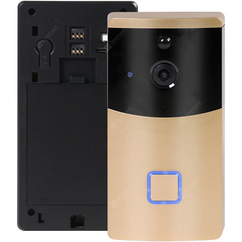 TY1 smart doorbell kamera Wifi trådløst intercom videoovervågningskamera - Guld